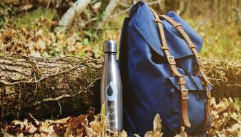 Thermos and backpack